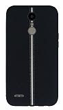 LG K10 2017 Kadife Dokulu Siyah Silikon Kılıf