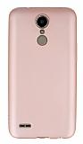LG K10 2017 Mat Rose Gold Silikon Kılıf