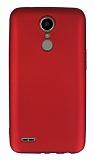 LG K10 2017 Mat Bordo Silikon Kılıf
