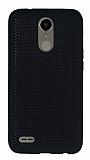 LG K10 2017 Noktalı Mat Siyah Silikon Kılıf