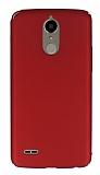LG K10 2017 Tam Kenar Koruma Kırmızı Rubber Kılıf