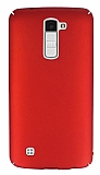 LG K10 Tam Kenar Koruma Kırmızı Rubber Kılıf
