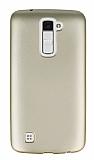 LG K10 Mat Gold Silikon Kılıf