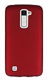 LG K10 Mat Kırmızı Silikon Kılıf