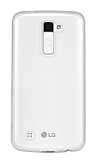 LG K10 Orjinal Jelly �effaf Silikon K�l�f