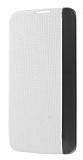LG K10 Pencereli İnce Yan Kapaklı Beyaz Kılıf