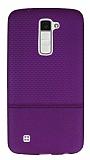 LG K10 Ultra İnce Noktalı Mor Silikon Kılıf