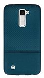 LG K10 Ultra İnce Noktalı Yeşil Silikon Kılıf