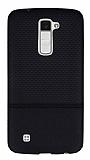 LG K10 Ultra İnce Noktalı Siyah Silikon Kılıf