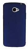 LG K5 Tam Kenar Koruma Lacivert Rubber Kılıf