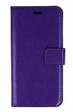 LG K8 Cüzdanlı Kapaklı Mor Deri Kılıf