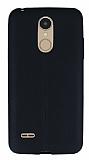 LG K8 2017 Deri Desenli Ultra İnce Siyah Silikon Kılıf