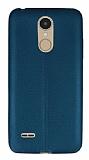 LG K8 2017 Deri Desenli Ultra İnce Yeşil Silikon Kılıf