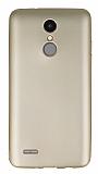 LG K8 2017 Mat Gold Silikon Kılıf