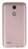 LG K8 2017 Mat Rose Gold Silikon Kılıf