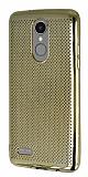 LG K8 2017 Noktalı Metalik Gold Silikon Kılıf