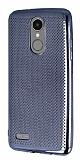 LG K8 2017 Noktalı Metalik Dark Silver Silikon Kılıf