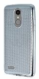 LG K8 2017 Noktalı Metalik Silver Silikon Kılıf