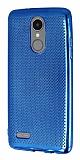LG K8 2017 Noktalı Metalik Lacivert Silikon Kılıf