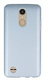 LG K8 2017 Tam Kenar Koruma Silver Rubber Kılıf