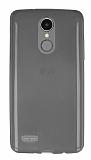 LG K8 2017 Ultra İnce Şeffaf Siyah Silikon Kılıf