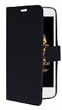 LG K8 Cüzdanlı Yan Kapaklı Siyah Deri Kılıf
