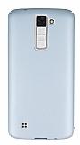 LG K8 Tam Kenar Koruma Silver Rubber Kılıf