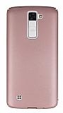 LG K8 Tam Kenar Koruma Rose Gold Rubber Kılıf