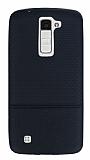 LG K8 Ultra İnce Noktalı Siyah Silikon Kılıf