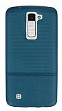 LG K8 Ultra İnce Noktalı Yeşil Silikon Kılıf