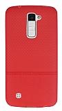 LG K8 Ultra İnce Noktalı Kırmızı Silikon Kılıf