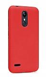 LG K9 Mat Kırmızı Silikon Kılıf