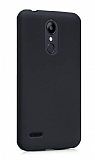 LG K9 Mat Siyah Silikon Kılıf