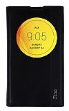 LG L Fino Gizli Mıknatıslı Pencereli Siyah Deri Kılıf