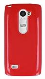 LG Leon Kırmızı Silikon Kılıf