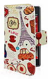 LG Optimus L5 2 Paris Love Standl� C�zdanl� Deri K�l�f