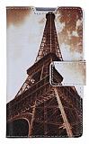 LG Optimus L7 2 Eiffel Kulesi C�zdanl� Yan Kapakl� K�l�f