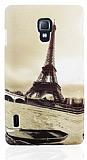 LG Optimus L7 2 Eiffel Kulesi Sert Mat Rubber K�l�f