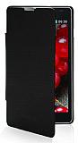 LG Optimus L7 2 �nce Yan Kapakl� Siyah K�l�f
