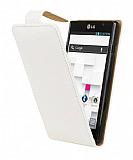 LG Optimus L9 P760 Beyaz Kapakl� Deri K�l�f