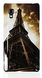 LG Optimus L9 P760 Eiffel Sert Parlak Rubber K�l�f