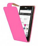 LG Optimus L9 P760 Pembe Kapakl� Deri K�l�f
