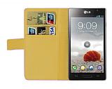 LG Optimus L9 P760 Pembe Yan C�zdanl� K�l�f