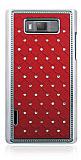 LG P700 Optimus L7 Ekose Ta�l� Bordo Sert Rubber K�l�f
