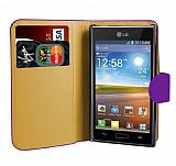 LG P700 Optimus L7 Mor Yan C�zdanl� K�l�f