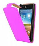 LG P700 Optimus L7 Pembe Kapakl� Deri K�l�f
