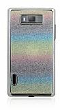 LG P700 Optimus L7 Renkli Simli Rubber K�l�f