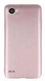 LG Q6 Mat Rose Gold Silikon Kılıf