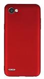 LG Q6 Mat Kırmızı Silikon Kılıf