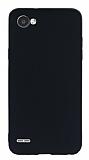 LG Q6 Mat Siyah Silikon Kılıf